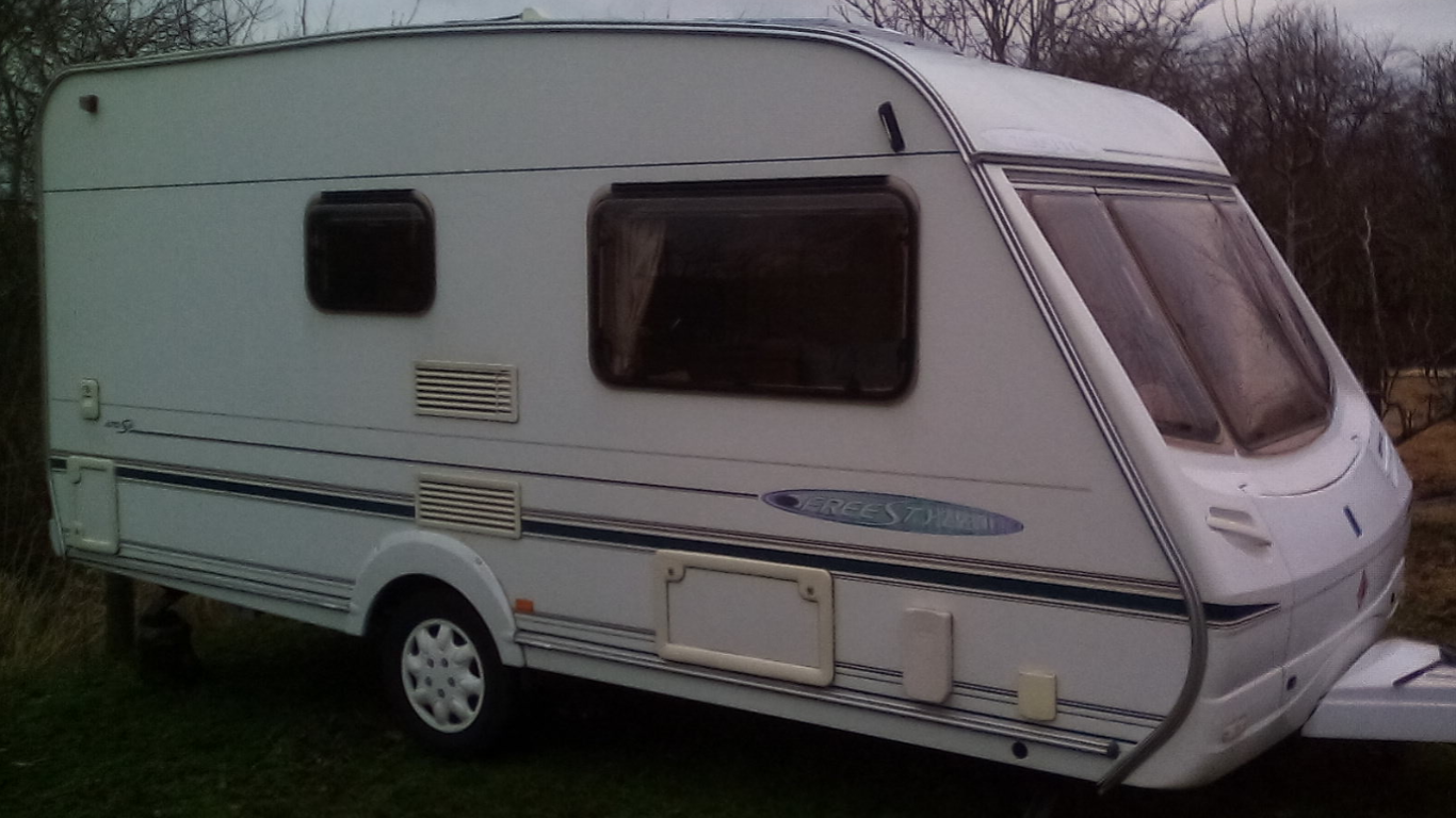 Caravan with double bed