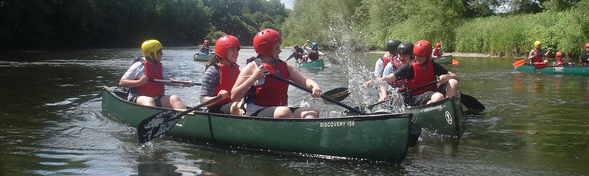 Canoeing and kayaking, fun water activities in Hay-on-Wye