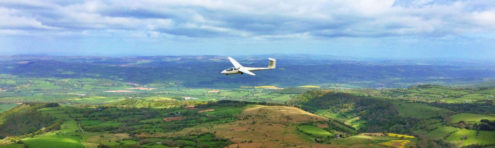 Gliding near the Black Mountains, Hay-on-Wye