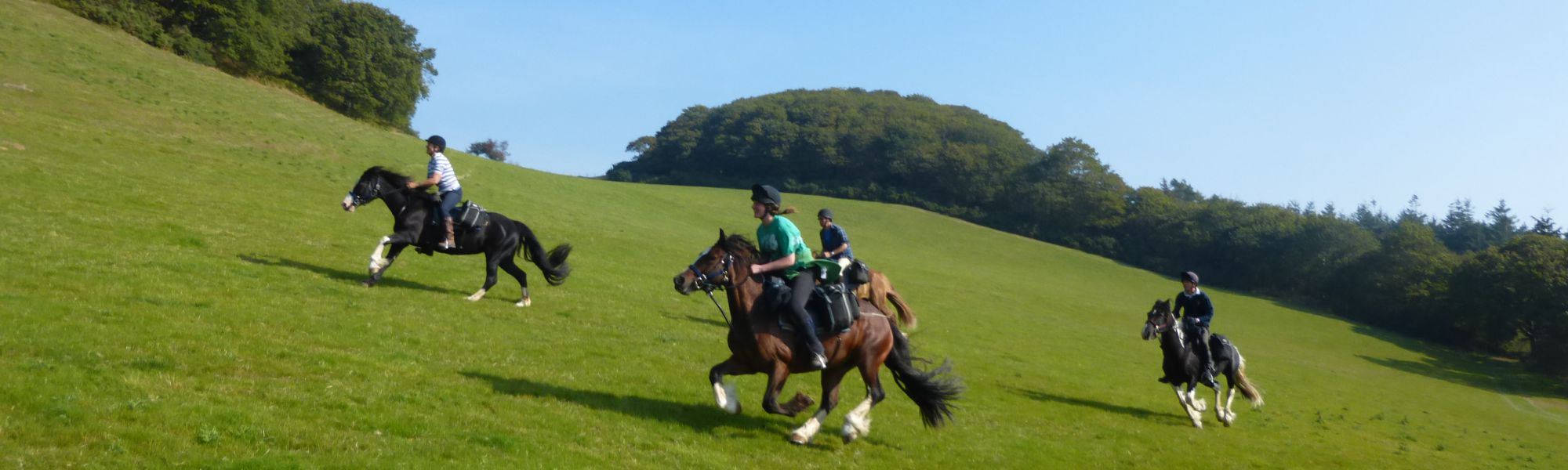 Horse riding in Welsh hills near Hay-on-Wye