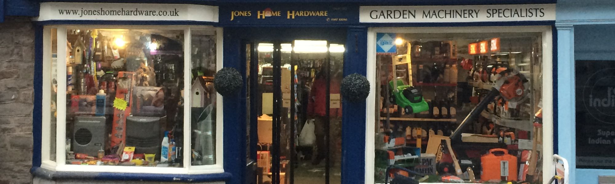 Jones Home Hardware, local hardware shop in Hay-on-Wye